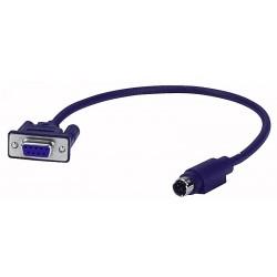 Mini DIN -> 9 polet sub D kabel 1,5 mtr.
