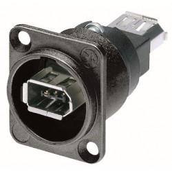 Neutrik Firewire D-chassis - sort