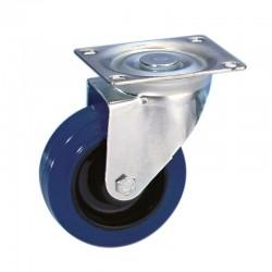 100 mm Blå Guitelhjul med drej - uden bremse