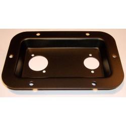 Stik-skål til 2 stk XLR, sort - gamle stik typer