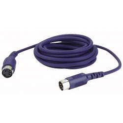 Midi kabel forlænger 5 polet  - 6 mtr.