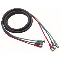3 x BNC -> 3 x BNC kabel 3 mtr.