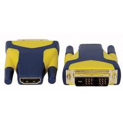 DVI han -> HDMI hun omformer