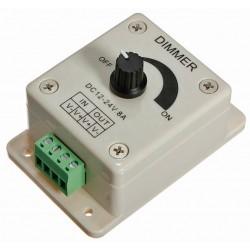 LED bånd dæmper 1 kanal 12-24VDC 8A
