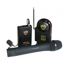 Trådløs VHF knaphulsmikrofon og modtager unidirek