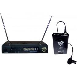Trådløs VHF komplet knaphuls mikrofonsæt omnidirek
