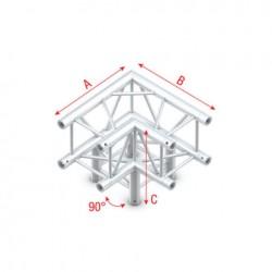 PQ30 bro firkant 30x30 cm - 90 grader hjørne + ned