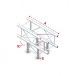 PQ30 bro firkant 30x30 cm - T kryds