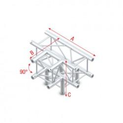 PQ30 bro firkant 30x30 cm - T kryds + ned