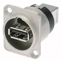 Neutrik USB D-chassis - sølv