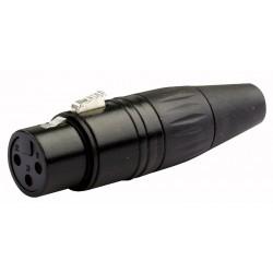 XLR 3 polet kabelstik hun sort