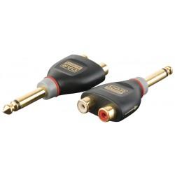 Xcaliber adaptor jack mono -> 2 x phono samler