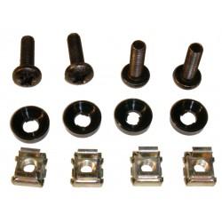 Rackskrue sæt m. 4 x skrue,clips og ring