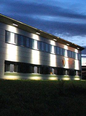 Facade belysning lys bygning LED